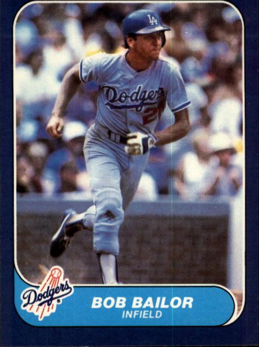 1986 Fleer #124 Bob Bailor