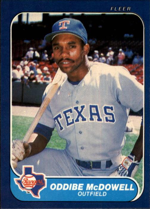 1986 Fleer #566 Oddibe McDowell