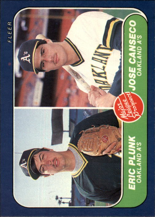 1986 Fleer #649 Jose Canseco RC