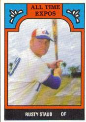 1986 Expos Greats TCMA #7 Rusty Staub