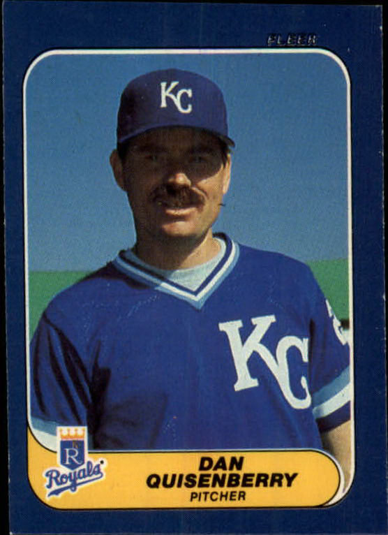 1986 Fleer Mini #2 Dan Quisenberry