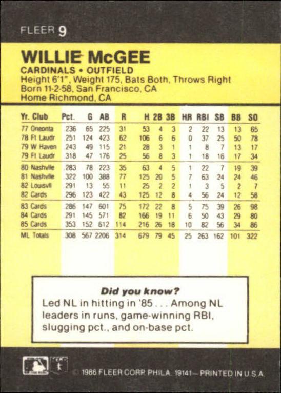 1986-Mini-Baseball-1-120-Your-Choice-GOTBASEBALLCARDS thumbnail 19