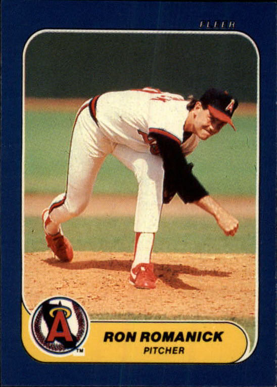 1986 Fleer Mini #34 Ron Romanick