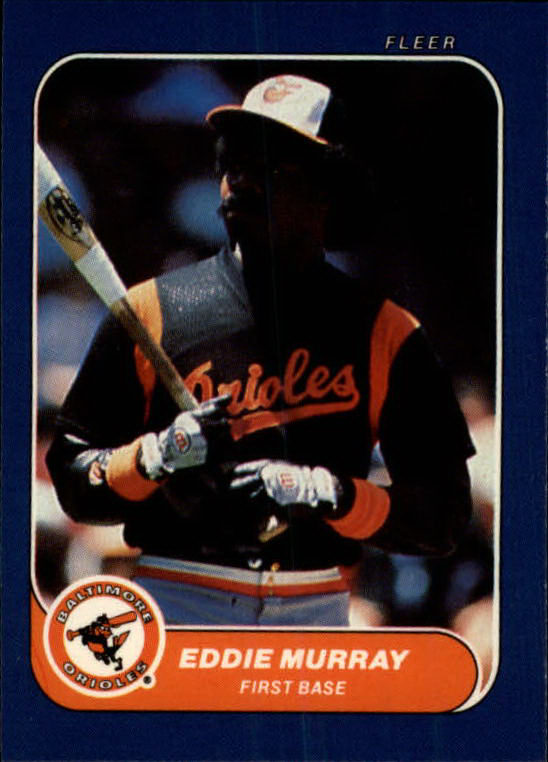 1986 Fleer Mini #58 Eddie Murray