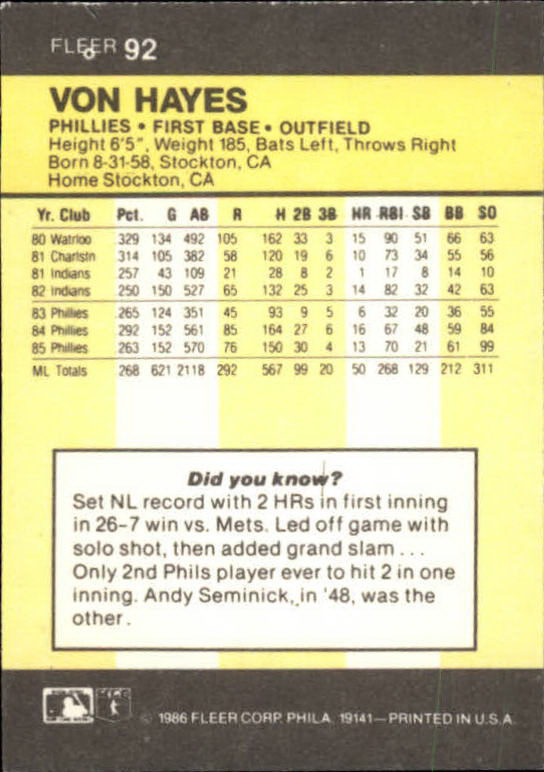 1986-Mini-Baseball-1-120-Your-Choice-GOTBASEBALLCARDS thumbnail 145