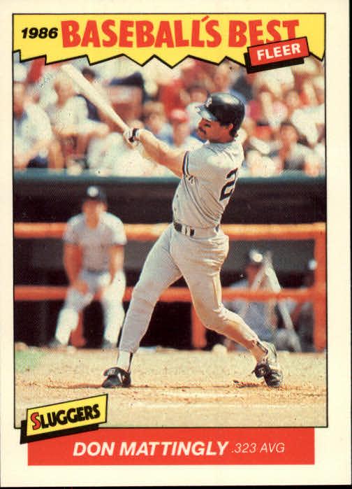 1986 Fleer Sluggers/Pitchers #21 Don Mattingly