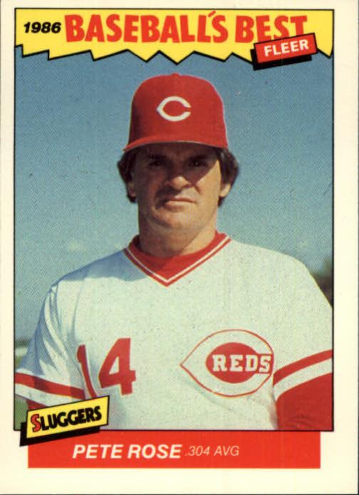 1986 Fleer Sluggers/Pitchers #29 Pete Rose