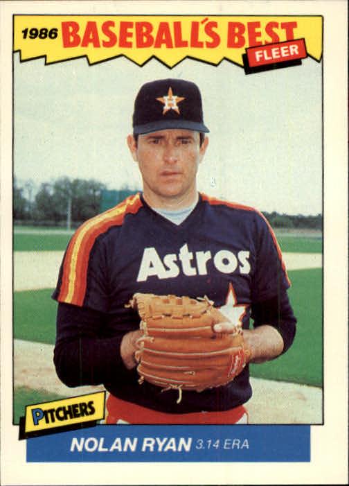 1986 Fleer Sluggers/Pitchers #30 Nolan Ryan
