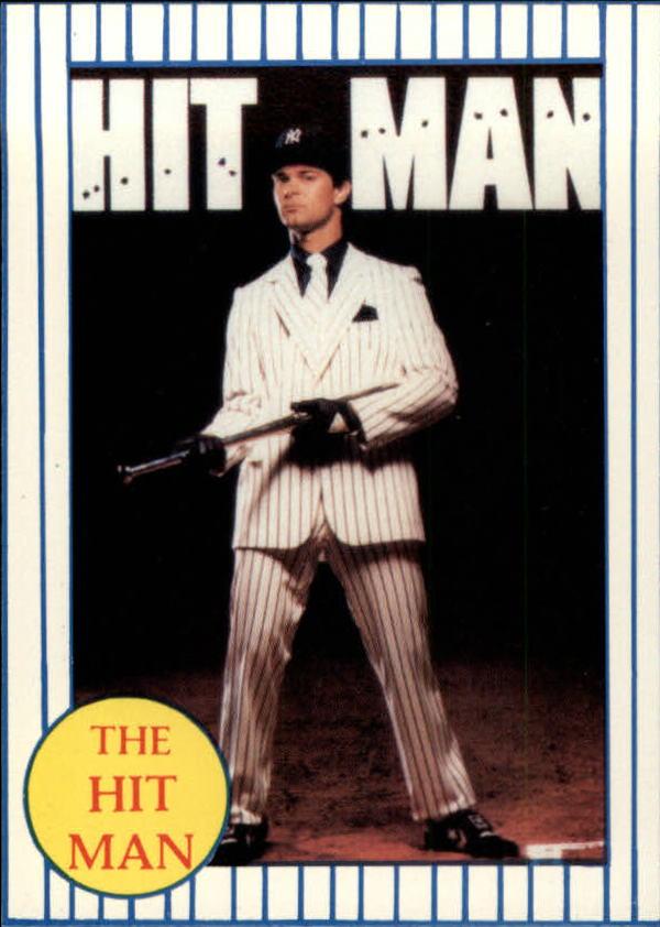 1986 Galasso Mattingly #NNO Don Mattingly/Hit Man Poster