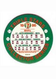 1986 Seven-Eleven Coins #W3 Keith Hernandez/Don Mattingly/Cal Ripken back image