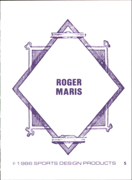 1986 Sports Design J.D. McCarthy #5 Roger Maris back image