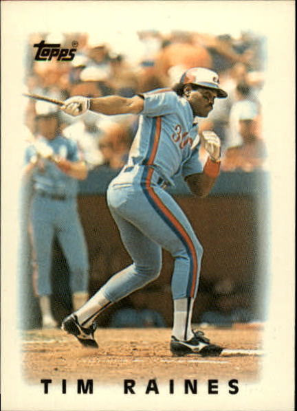 1986 Topps Mini Leaders #49 Tim Raines