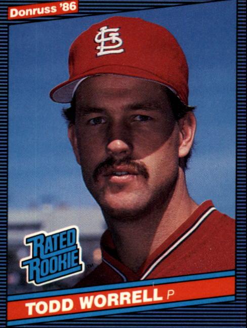 1986 Donruss #43 Todd Worrell RC