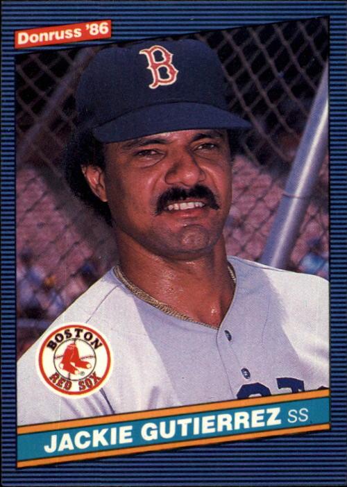 1986 Donruss #335 Jackie Gutierrez