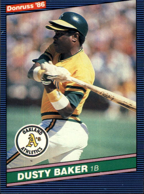 1986 Donruss #467 Dusty Baker