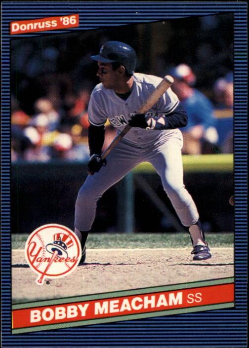 1986 Donruss #638 Bobby Meacham