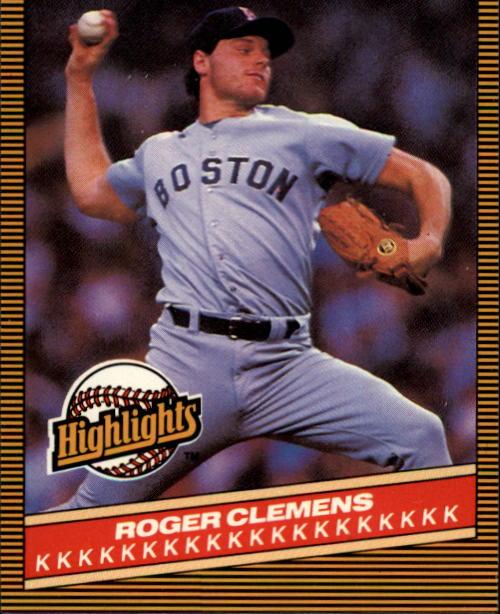 1986 Donruss Highlights #5 Roger Clemens