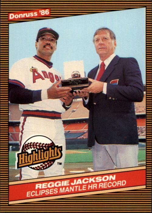 1986 Donruss Highlights #10 M.Mantle/R.Jackson