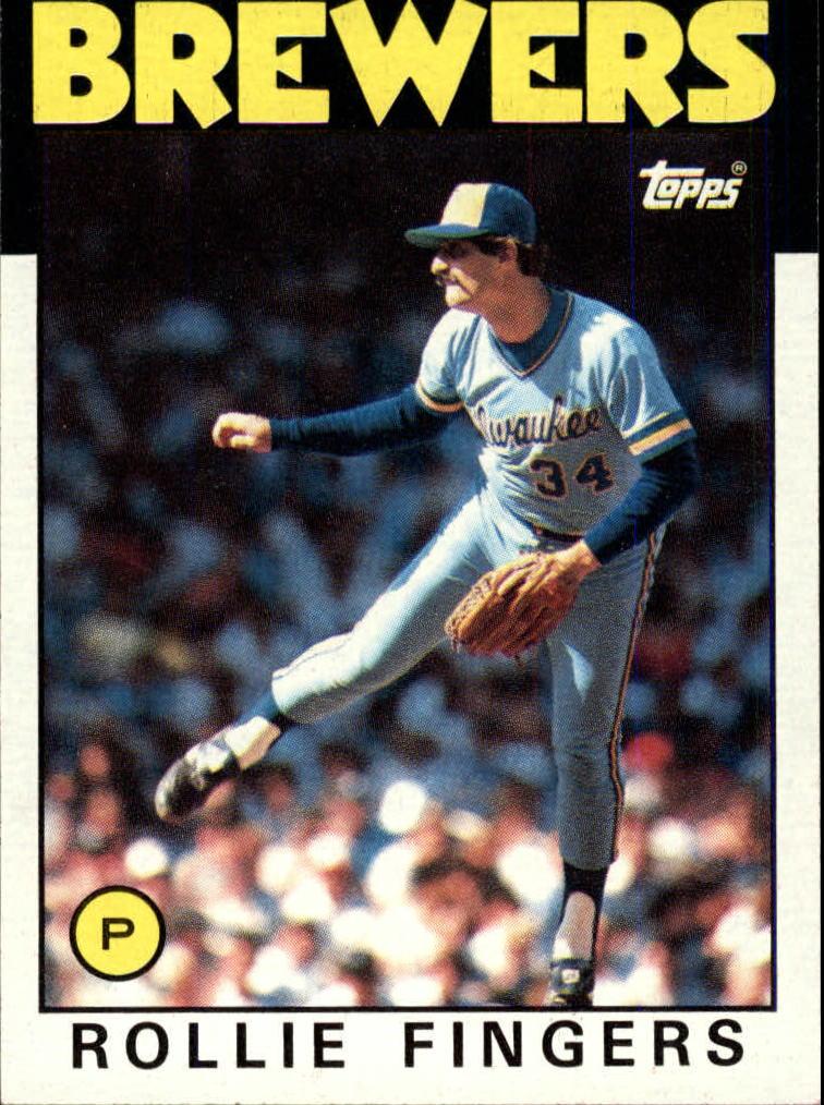 1986 Topps #185 Rollie Fingers
