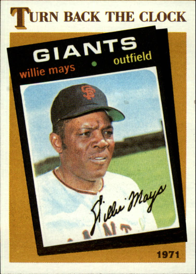 1986 Topps #403 Willie Mays TBC