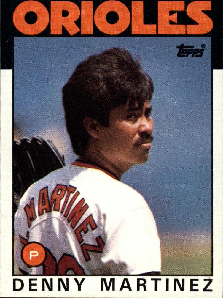 1986 Topps #416 Dennis Martinez