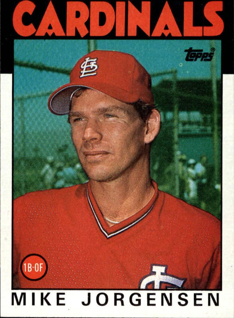 1986 Topps #422 Mike Jorgensen