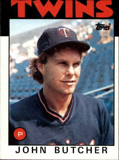 1986 Topps #638 John Butcher