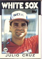 1986 Topps Tiffany #14 Julio Cruz