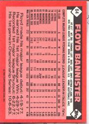 1986 Topps Tiffany #64 Floyd Bannister back image