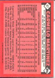1986 Topps Tiffany #67 Carmelo Martinez back image