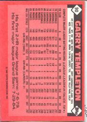1986 Topps Tiffany #90 Garry Templeton back image