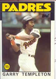 1986 Topps Tiffany #90 Garry Templeton