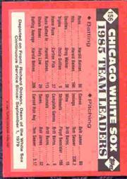 1986 Topps Tiffany #156 White Sox Leaders/Richard Dotson back image
