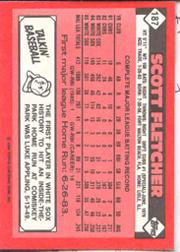 1986 Topps Tiffany #187 Scott Fletcher back image