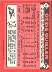 1986 Topps Tiffany #254 Ozzie Guillen back image