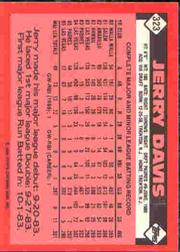 1986 Topps Tiffany #323 Jerry Davis back image