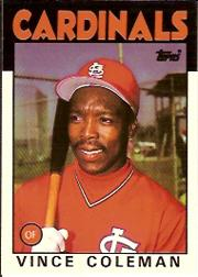 1986 Topps Tiffany #370 Vince Coleman