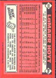 1986 Topps Tiffany #380 LaMarr Hoyt back image