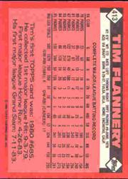 1986 Topps Tiffany #413 Tim Flannery back image