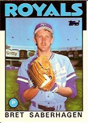 1986 Topps Tiffany #487 Bret Saberhagen