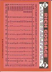 1986 Topps Tiffany #530 Rich Gossage back image
