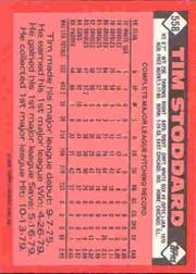 1986 Topps Tiffany #558 Tim Stoddard back image