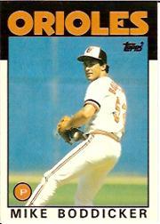 1986 Topps Tiffany #575 Mike Boddicker