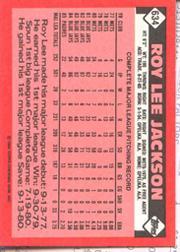 1986 Topps Tiffany #634 Roy Lee Jackson back image