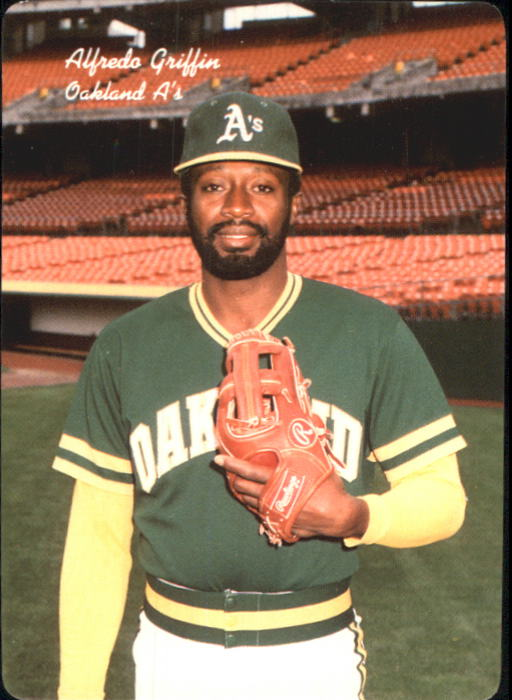 1986 A's Mother's #5 Alfredo Griffin
