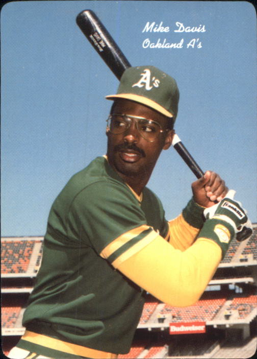 1986 A's Mother's #7 Mike Davis