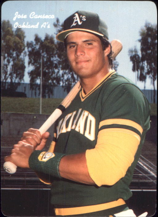 1986 A's Mother's #9 Jose Canseco
