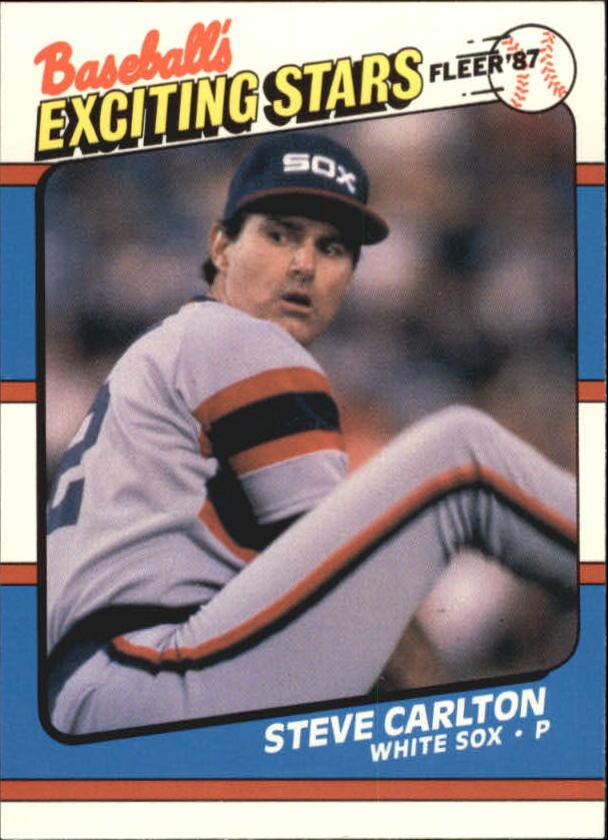 1987 Fleer Exciting Stars #8 Steve Carlton