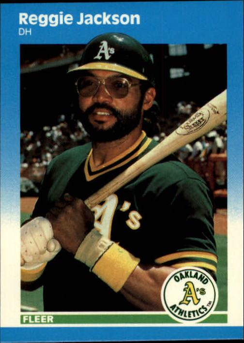 1987 Fleer Update #49 Reggie Jackson
