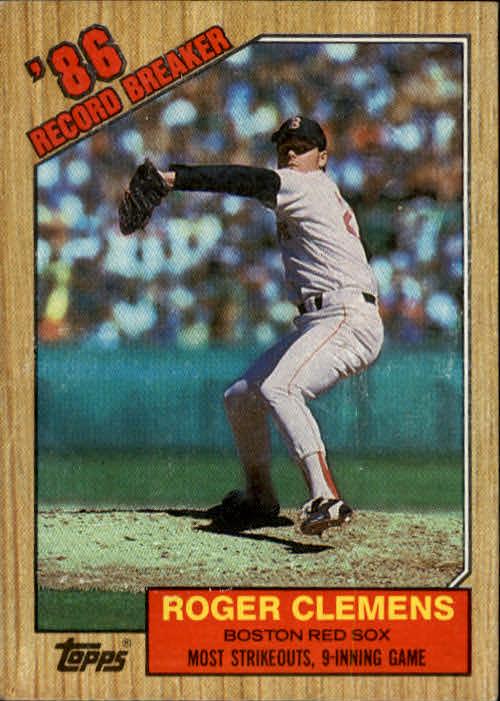 1987 Topps #1 Roger Clemens RB